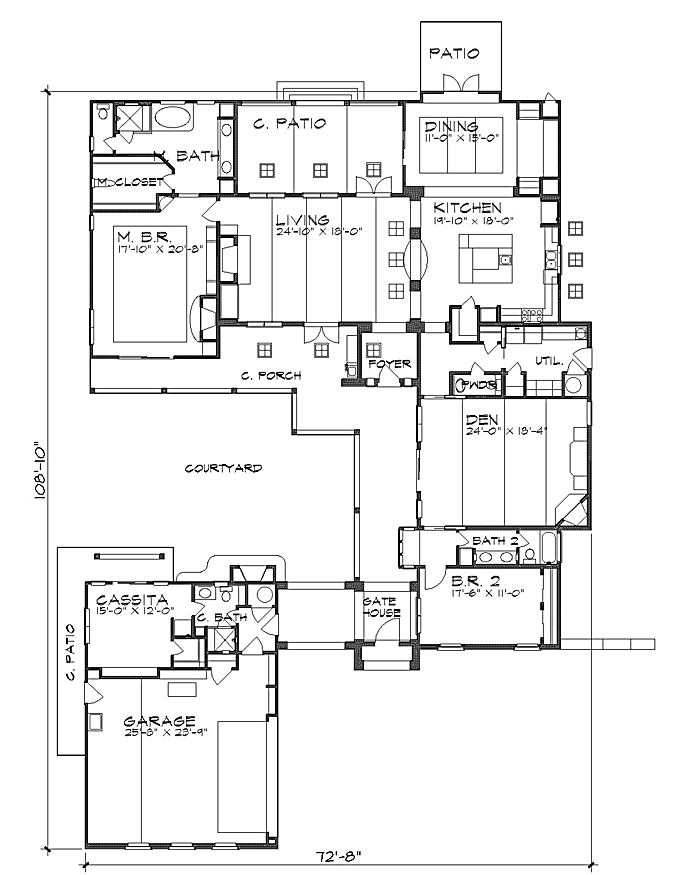 Floor Plan image of Featured House Plan: BHG - 4244